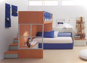 dormitoare pt copii alb albastru