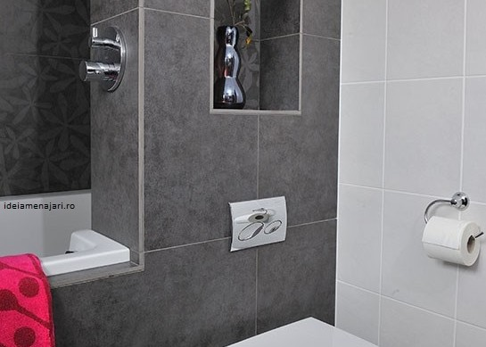 faianta baie negru alb