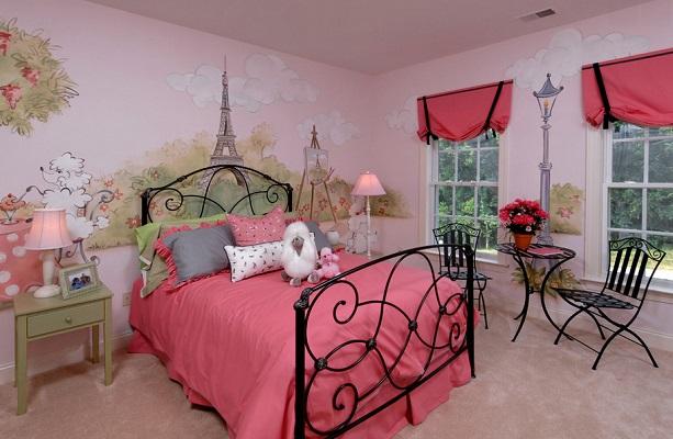 modele dormitoare pentru fete roz