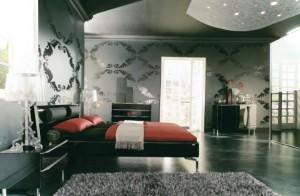 amenajare dormitor tapetat